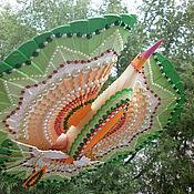 Подарки к праздникам ручной работы. Ярмарка Мастеров - ручная работа Птица счастья для медитации– мандала зелёная. Handmade.