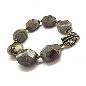 Украшения handmade. Livemaster - original item Bracelet Septaria. Natural stones, designer brass Anna Black. Handmade.