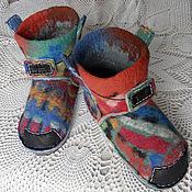 """Обувь ручной работы. Ярмарка Мастеров - ручная работа Тапки-валенки """"Калейдоскоп"""". Handmade."""