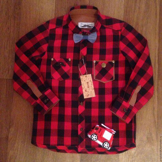 """Одежда унисекс ручной работы. Ярмарка Мастеров - ручная работа. Купить Рубашка унисекс """"red&black"""". Handmade. В клеточку"""