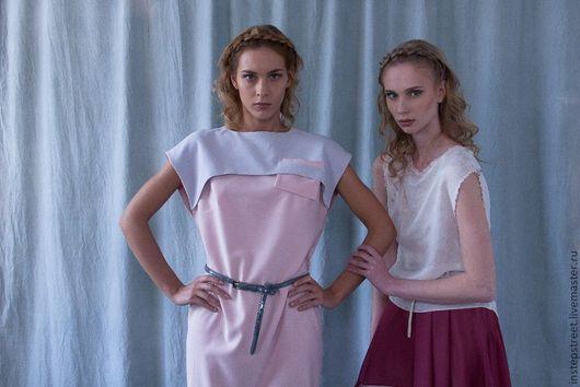 """Платья ручной работы. Ярмарка Мастеров - ручная работа. Купить Платье 100% шерсть  """" Розовый  туман"""". Handmade. стильный"""
