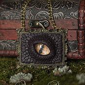 Украшения ручной работы. Ярмарка Мастеров - ручная работа Тёмный вишнёвый дракон. Handmade.