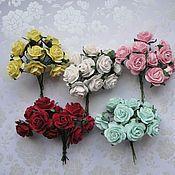 Материалы для творчества ручной работы. Ярмарка Мастеров - ручная работа Розы 2 см 12 расцветок. Handmade.