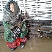"""Куклы и игрушки ручной работы. Ярмарка Мастеров - ручная работа Ватная елочная игрушка """"Девочка в зеленом тулупе"""". Handmade."""