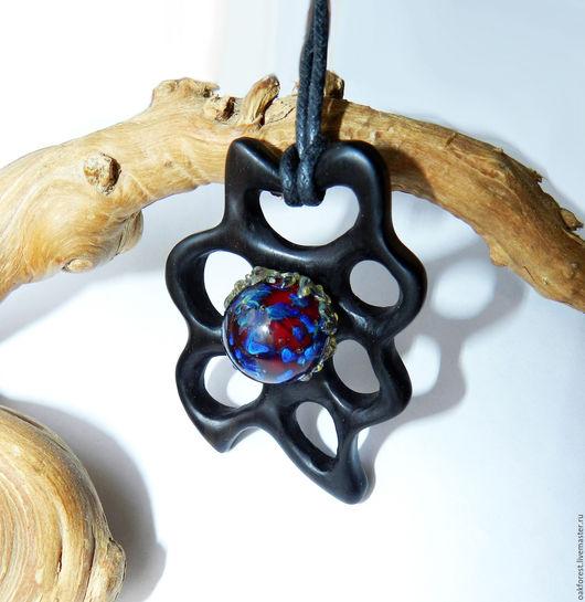"""Кулоны, подвески ручной работы. Ярмарка Мастеров - ручная работа. Купить Кулон - подвеска из дерева """"Дикое пламя"""" (эбен). Handmade."""