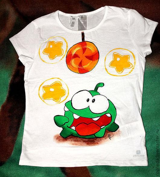 Одежда унисекс ручной работы. Ярмарка Мастеров - ручная работа. Купить Cut the Rope  - детская футболка (0927). Handmade.