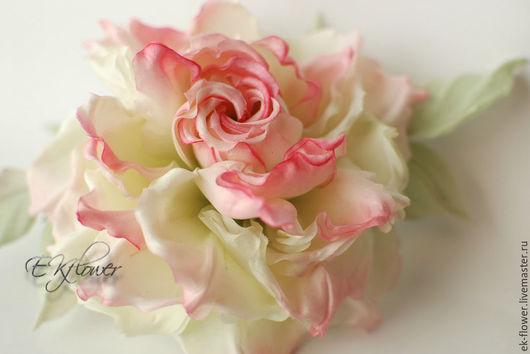 """Цветы ручной работы. Ярмарка Мастеров - ручная работа. Купить Цветы из ткани. Цветы из шелка. Роза """"Ангелика"""". Handmade. Лимонный"""