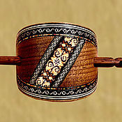 Украшения handmade. Livemaster - original item Hairpin with this inlaid wood (not decoupage!), with a stick. Handmade.