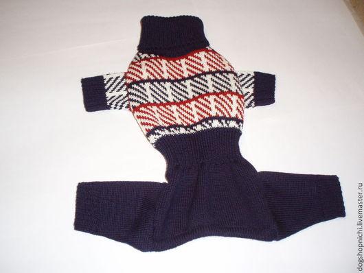Одежда для собак, ручной работы. Ярмарка Мастеров - ручная работа. Купить Вязанный комбинезон для собаки в клетку авторская работа. Handmade.