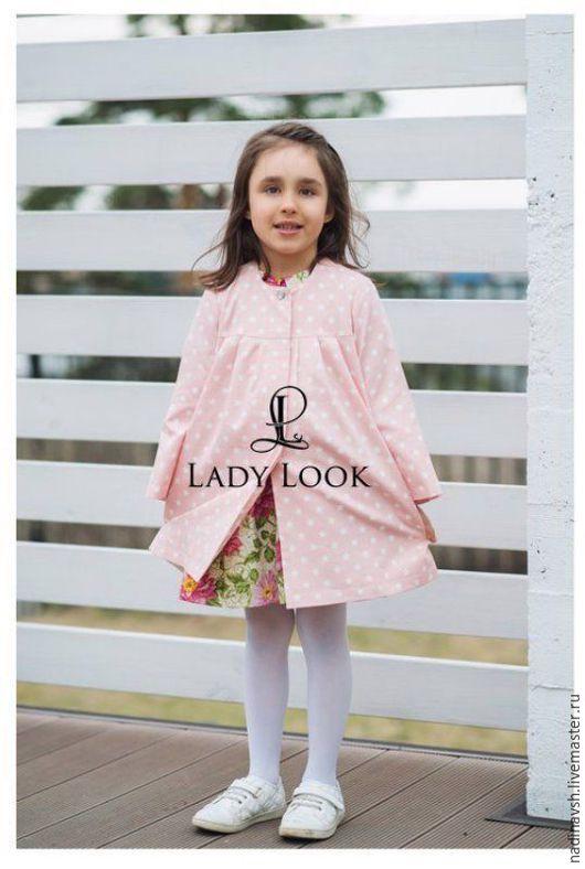 Одежда для девочек, ручной работы. Ярмарка Мастеров - ручная работа. Купить Плащ-пыльник для девочки. Handmade. Одежда для девочек, плащ