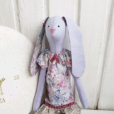 Куклы и игрушки ручной работы. Ярмарка Мастеров - ручная работа Тильда зайка Людочка. Handmade.