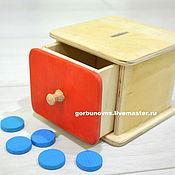 Куклы и игрушки handmade. Livemaster - original item Toy Box with chips Montessori. Handmade.