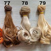 Волосы для кукол ручной работы. Ярмарка Мастеров - ручная работа Трессы для кукол Кудри 15см. Handmade.