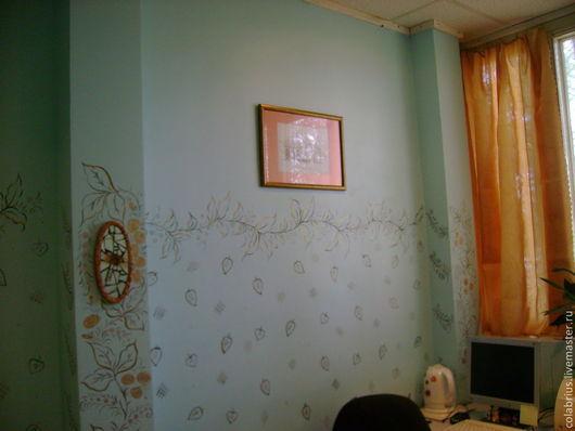 Панно `Стрекоза` и роспись стены - выполню на заказ
