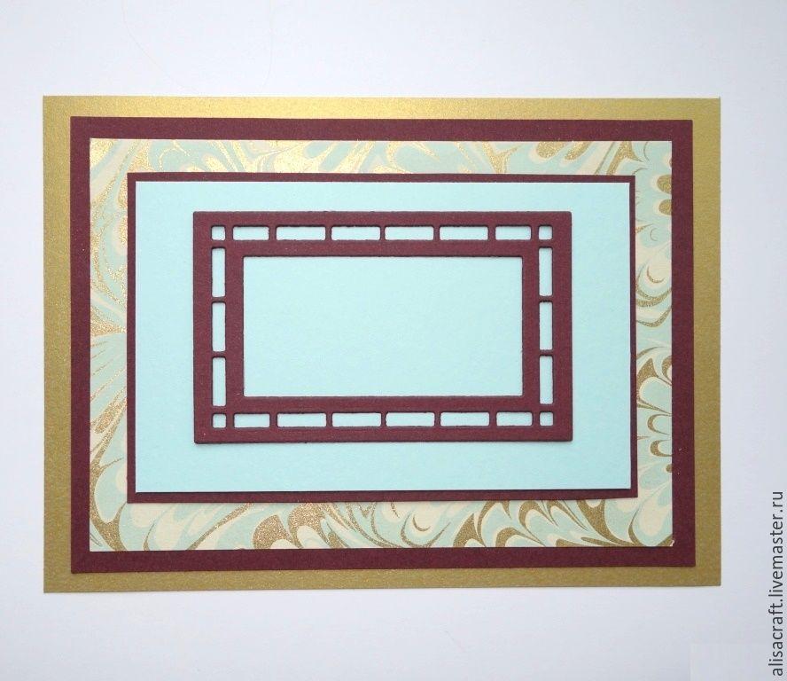 Бумага бордового цвета - `Бордо` (№ 4 Колорс) Плотность - 300 г На фото - сочетание бумаги `Бордо` с `Нежно-голубым` кардстоком Колорс, `Блестящим золотом` и декоративной бумагой