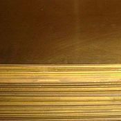Материалы для творчества ручной работы. Ярмарка Мастеров - ручная работа Лист латунный 0,2мм (300х200мм). Handmade.
