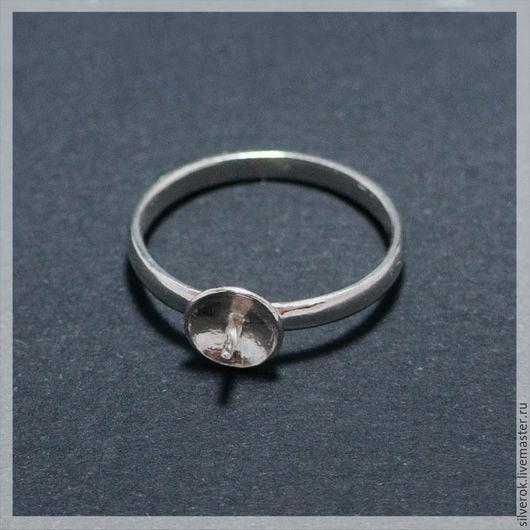 Для украшений ручной работы. Ярмарка Мастеров - ручная работа. Купить Основа для кольца с тарелочкой серебро 925 проба. Handmade.
