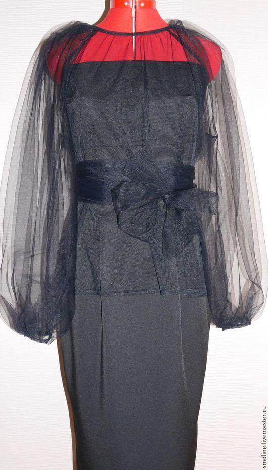 Платья ручной работы. Ярмарка Мастеров - ручная работа. Купить Платье коктельное воздушное. Handmade. Черный, платье-футляр