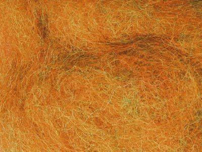 Валяние ручной работы. Ярмарка Мастеров - ручная работа. Купить Новозеландский кардочес меланж - Оранжево-зеленый. Handmade. Меланж