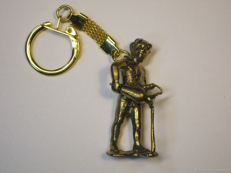 Brass keychain Zodiac Sign 'Aquarius' 21.02-20.02, Key chain, Yaroslavl,  Фото №1