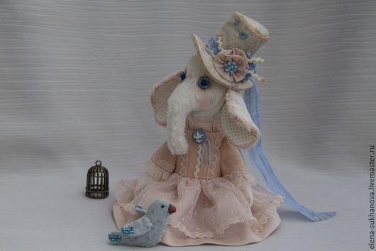 """Мишки Тедди ручной работы. Ярмарка Мастеров - ручная работа. Купить Слоник """"Маленькая Петербурженка"""". Handmade. Бледно-розовый, синтепон"""