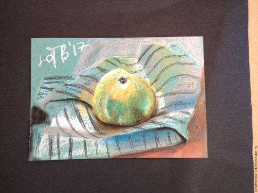 Натюрморт ручной работы. Ярмарка Мастеров - ручная работа. Купить Натюрморт с грейпфруктом. Handmade. Оливковый, фрукты