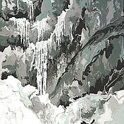 Картины ручной работы. Ярмарка Мастеров - ручная работа Авторская картина в раме Водопад. Handmade.