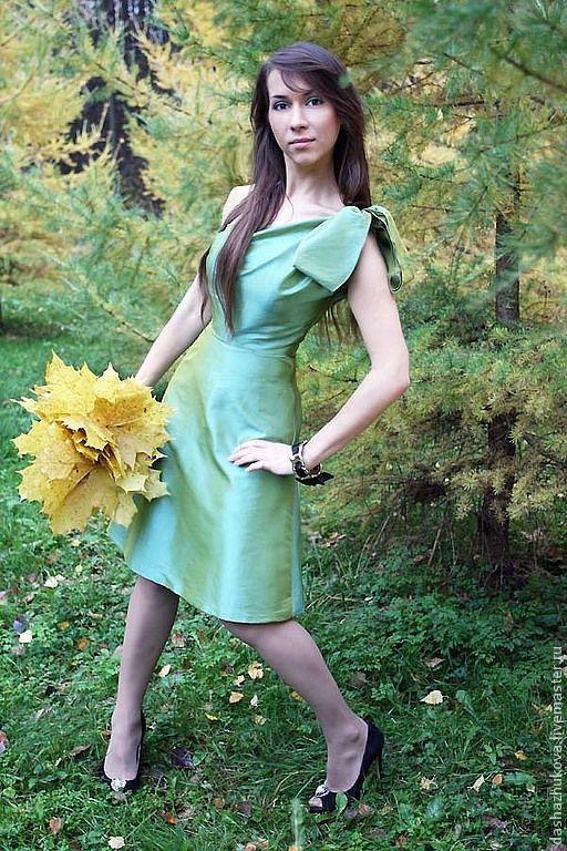 """Платья ручной работы. Ярмарка Мастеров - ручная работа. Купить """"Весенние ручьи"""". Handmade. Мятный, платье, платье летнее"""