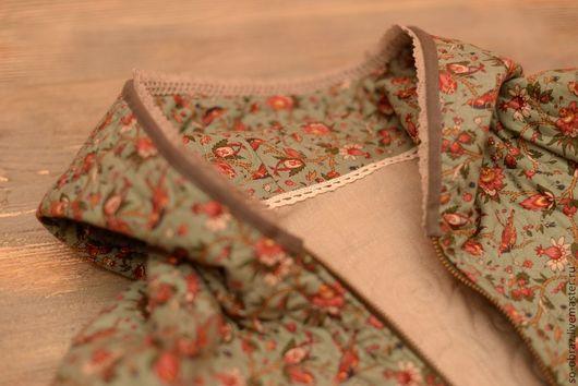 Верхняя одежда ручной работы. Ярмарка Мастеров - ручная работа. Купить Стеганная Бохо куртка. Handmade. Тёмно-бирюзовый, осень