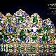 Диадемы, обручи ручной работы. Свадебная тиара-корона «Царица Тамара» перидот  в стиле D & G. girandole. Ярмарка Мастеров.