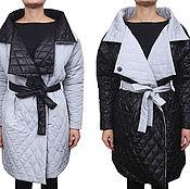 Одежда ручной работы. Ярмарка Мастеров - ручная работа Sale! -50% Куртка р-р L.Черно-белая двусторонняя. Handmade.