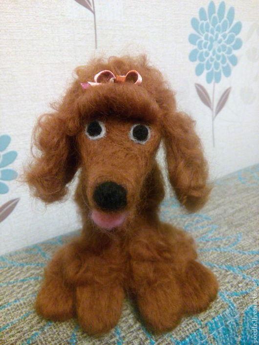 """Игрушки животные, ручной работы. Ярмарка Мастеров - ручная работа. Купить игрушка из шерсти """"Пудель девочка"""". Handmade. Разноцветный, собачка"""