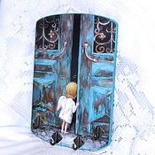 Для дома и интерьера handmade. Livemaster - original item The housekeeper-a panel of angel on the doorstep. Handmade.