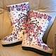 Обувь ручной работы. Ярмарка Мастеров - ручная работа. Купить Сакура белая. Handmade. Белый, валенки, меринос, Валяние, подарок