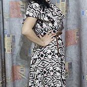 Одежда ручной работы. Ярмарка Мастеров - ручная работа Макси-платье из иката. Handmade.