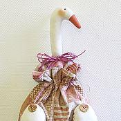 Куклы и игрушки ручной работы. Ярмарка Мастеров - ручная работа Гусь-мешок (пакетница) льняной. Handmade.