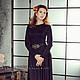 Платья ручной работы. Платье в пол черное. Dudu-dress. Ярмарка Мастеров. Платье, шикарное, длинные рукава, юбка в пол