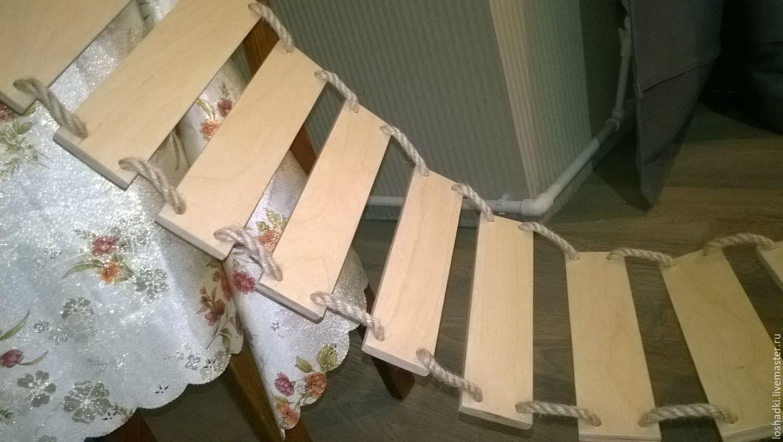 Детские подвесные мостики своими руками