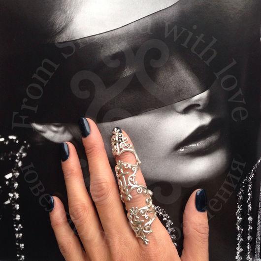 Кольца ручной работы. Ярмарка Мастеров - ручная работа. Купить Кольцо на весь палец серебро 925. Handmade. Серебряное кольцо