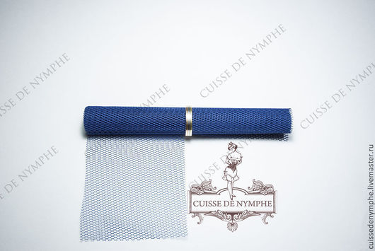 Шитье ручной работы. Ярмарка Мастеров - ручная работа. Купить Фатин жесткий, темно-синий GRKT-2527. Handmade. Фатин