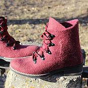 Обувь ручной работы. Ярмарка Мастеров - ручная работа Валяные ботиночки. Handmade.