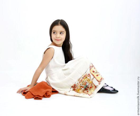 """Одежда для девочек, ручной работы. Ярмарка Мастеров - ручная работа. Купить Детский осенний комплект  """"Этника"""". Handmade. Рыжий, комплект"""