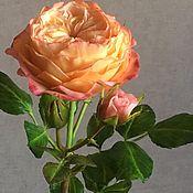 Цветы и флористика ручной работы. Ярмарка Мастеров - ручная работа Староанглийская роза Аврора. Handmade.