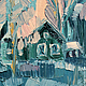 Авторская картина Анна Крюкова impression-живопись Русская зима Картина зимний пейзаж маслом