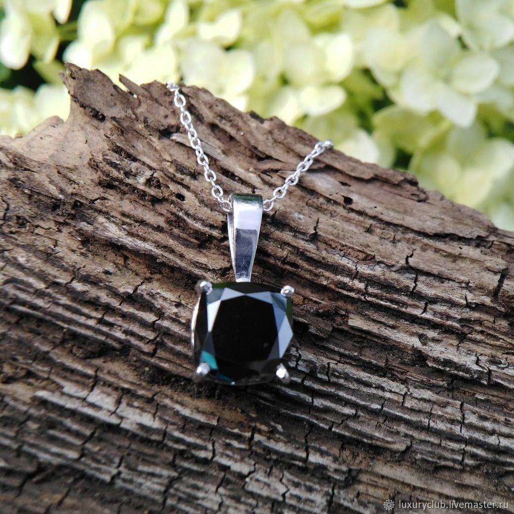 Diamond black pendant 4 ct buy, Pendants, Tolyatti,  Фото №1