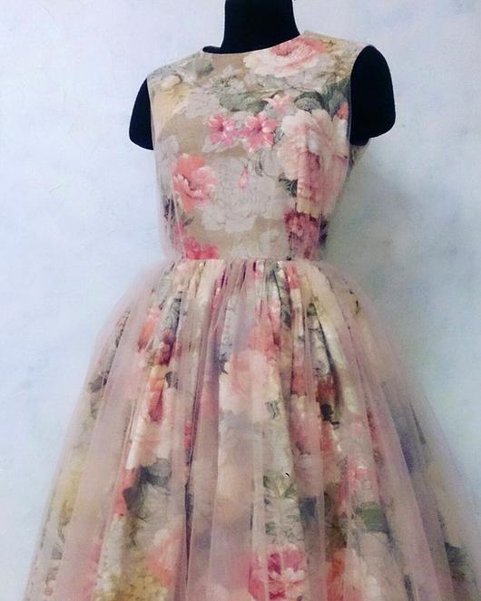 """Платья ручной работы. Ярмарка Мастеров - ручная работа. Купить Вечернее платье """"Лето"""". Handmade. Розовый, Платье нарядное"""