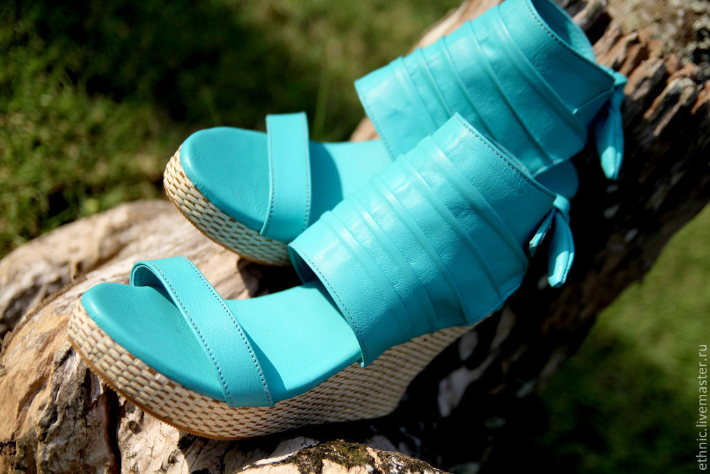 Wedge shoes from a genuine leather of lamb, Shoes, Denpasar,  Фото №1