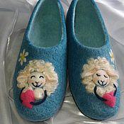 Обувь ручной работы. Ярмарка Мастеров - ручная работа Романтичные овечки. Валяные тапочки.. Handmade.