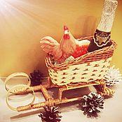 Косметика ручной работы. Ярмарка Мастеров - ручная работа мыло ручной работы шампанское,петушок и сердечко с икрой  санках. Handmade.