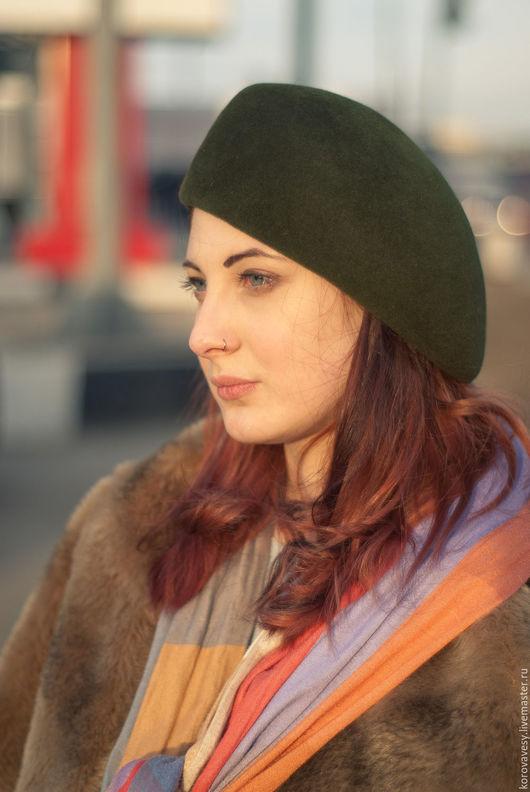 """Шляпы ручной работы. Ярмарка Мастеров - ручная работа. Купить """"Шотландский мох"""". Handmade. Хаки, шляпка, модная шляпа"""